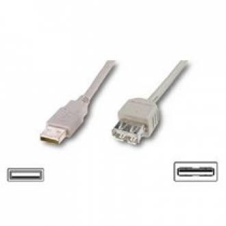 CABLE USB 2.0 TIPO A-A MACHO ---> HEMBRA DE 3 Mts.