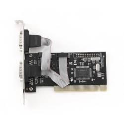 GEMBIRD TARJETA PCI 2 PUERTOS SERIE RS232 PERFIL BAJO (SIN ADAPTADOR)