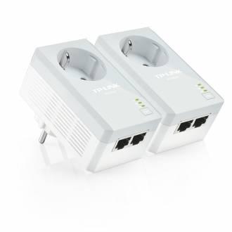 TP-LINK KIT PAREJA PLC POWERLINE AV500 2 PUERTOS LAN CON ENCHUFE