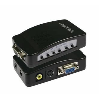 LOGILINK CONVERTIDOR DE VGA PC DSUB15 ---> TV 3xRCA SVHS