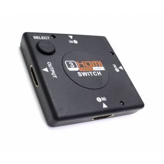 CONMUTADOR HDMI 3 ENTRADAS 1 SALIDA BOTON