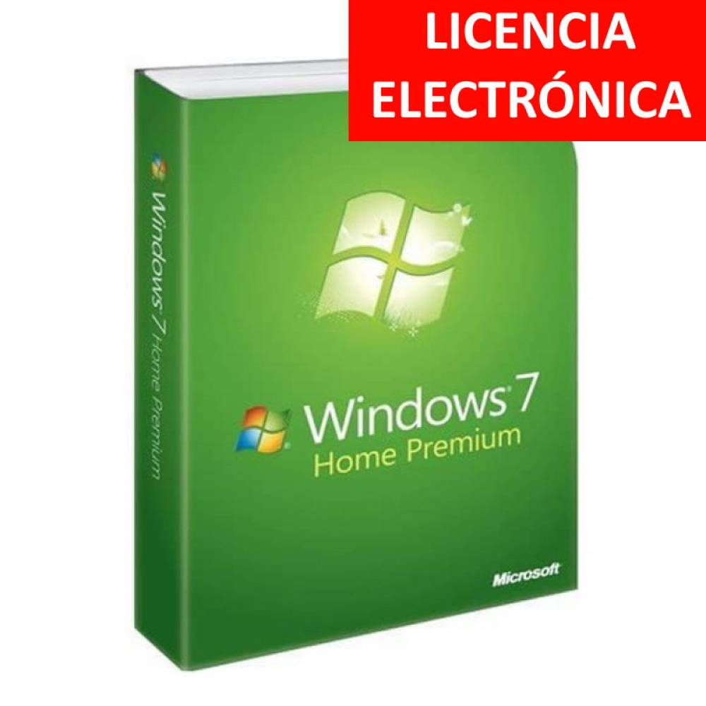WINDOWS 7 HOME PREMIUM - LICENCIA ELECTRONICA (NO DVD - SOLO CLAVE)