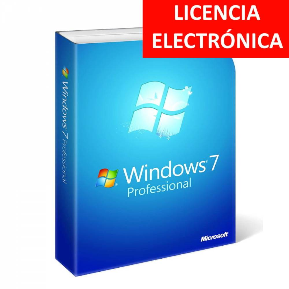 WINDOWS 7 PROFESSIONAL SP1 - LICENCIA ELECTRONICA (NO DVD - SOLO CLAVE)