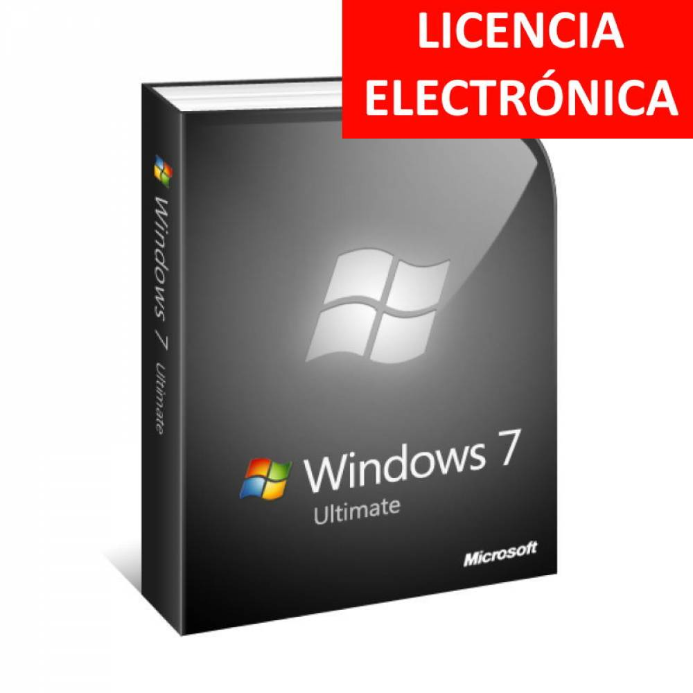 WINDOWS 7 ULTIMATE SP1 ESPAÑOL - LICENCIA ELECTRONICA (NO DVD - SOLO CLAVE)