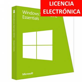 MICROSOFT WINDOWS SERVER 2012 ESSENTIALS - LICENCIA ELECTRONICA (NO DVD - SOLO CLAVE)