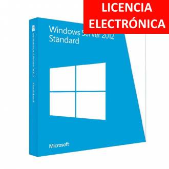 MICROSOFT WINDOWS SERVER 2012 STANDARD - LICENCIA ELECTRONICA (NO DVD - SOLO CLAVE)