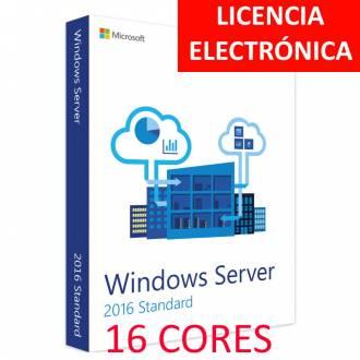 MICROSOFT WINDOWS SERVER 2016 STANDARD 16 CORES - LICENCIA ELECTRONICA (NO DVD - SOLO CLAVE)