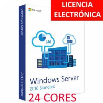 MICROSOFT WINDOWS SERVER 2016 STANDARD 24 CORES - LICENCIA ELECTRONICA (NO DVD - SOLO CLAVE)