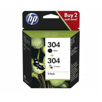 HP Nº 304XL DeskJet 3720/3730 KIT CABEZAL NEGRO Y COLOR