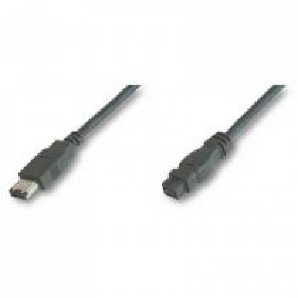 CABLE ADAPTADOR FIREWIRE 800 IEEE 1394B 9-6 PINES MACHO ---> MACHO 1.8 Mts.