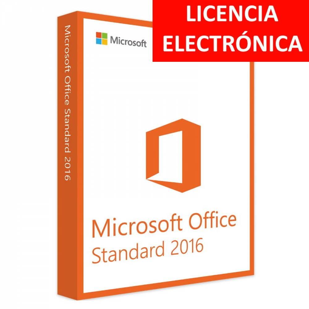 MICROSOFT OFFICE 2016 STANDARD - LICENCIA ELECTRONICA (NO DVD/COA - SOLO CLAVE)
