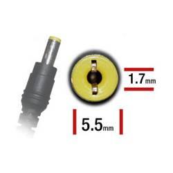 ALIMENTADOR ESPECIFICO 19V 3.42A - 5.5 x 1.7mm - 65 W (ACER - PB - ASUS - TOSHIBA)