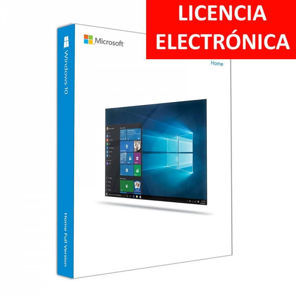 MICROSOFT WINDOWS 10 HOME 64B - LICENCIA ELECTRONICA (NO DVD - SOLO CLAVE)